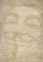 Guy Fawkes Mask, Anonymous  Libertarian, Prints & Posters,Wall Art Print, Poster Any Size - Black and White Poster